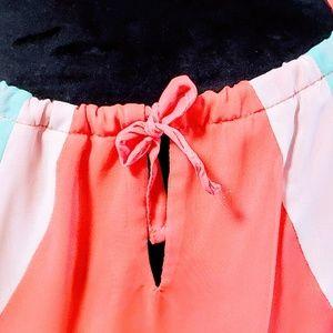 As U Wish Dresses - As U Wish, Color Block Coral Maxi size S 🆕🦄